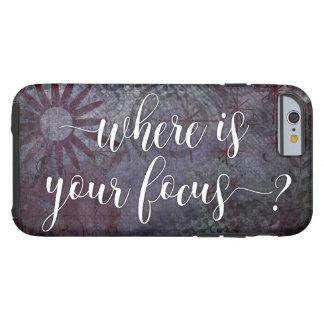 Coque Tough iPhone 6 Où est votre foyer ? Abrégé sur rustique 2