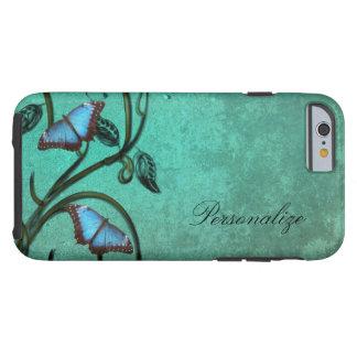 Coque Tough iPhone 6 Paires turquoises de papillon