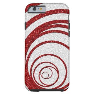 Coque Tough iPhone 6 Parties scintillantes rouges tourbillonnantes