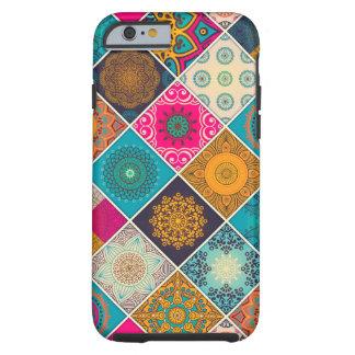 Coque Tough iPhone 6 Patchwork de Bohème coloré de mandala