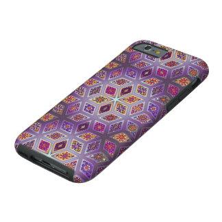 Coque Tough iPhone 6 Patchwork vintage avec les éléments floraux de