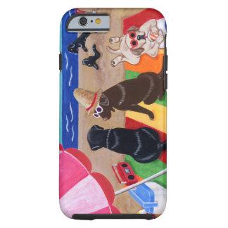 Coque Tough iPhone 6 Peinture de Labradors de brise d'été