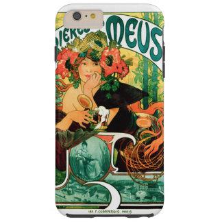 Coque Tough iPhone 6 Plus Bière des beaux-arts de la Meuse Alphonse Mucha