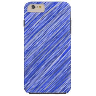 Coque Tough iPhone 6 Plus Caisse de téléphone barrée par bleu chic