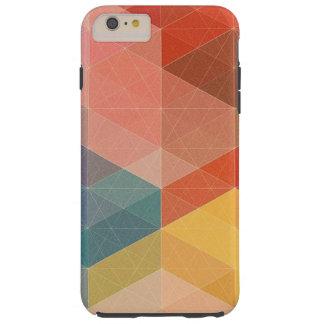 Coque Tough iPhone 6 Plus Caisse géométrique colorée de l'iPhone 6, cas de