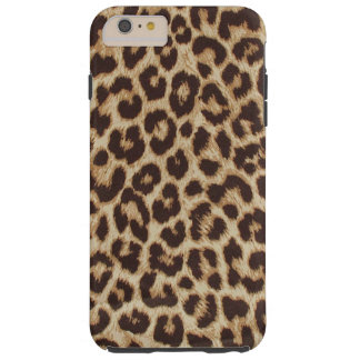 Coque Tough iPhone 6 Plus Cas plus de l'iPhone 6 durs d'empreinte de léopard