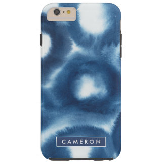 Coque Tough iPhone 6 Plus Cercles d'impression d'aquarelle d'Indigio