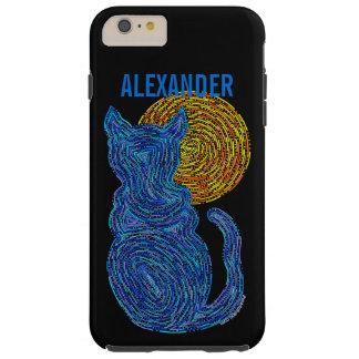 Coque Tough iPhone 6 Plus Chat bleu de Z et le chaton félin d'amoureux des