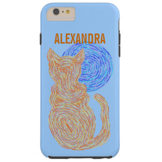 Coque Tough iPhone 6 Plus Chat orange de Z et le chaton félin d'amoureux des