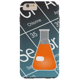 Coque Tough iPhone 6 Plus Chimie (conique) orange de flacon d'Erlenmeyer