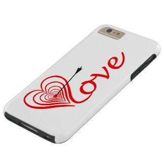 Coque Tough iPhone 6 Plus Coeur amour Dartscheibe avec la flèche