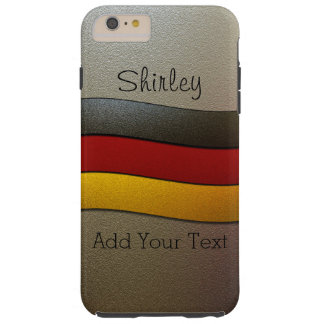 Coque Tough iPhone 6 Plus Couleur-Chrome de drapeau de l'Allemagne par