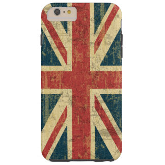 Coque Tough iPhone 6 Plus Cru d'Union Jack affligé