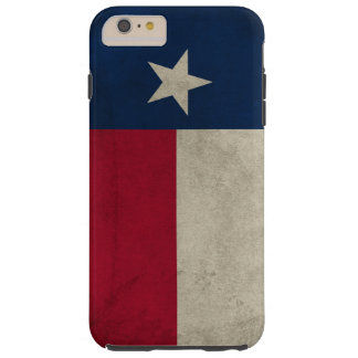 Coque Tough iPhone 6 Plus Drapeau solitaire d'étoile de Grunge du Texas
