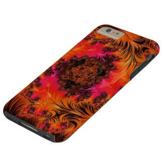 Coque Tough iPhone 6 Plus En feu dans Fiery Fleur de Magma
