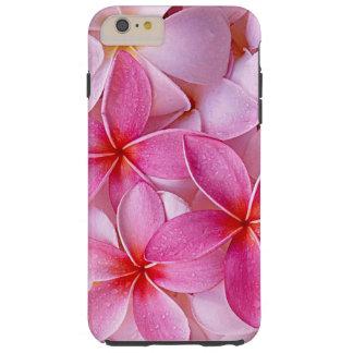 Coque Tough iPhone 6 Plus Fleurs hawaïennes chics élégantes de Plumeria de