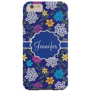 Coque Tough iPhone 6 Plus Fleurs sauvages Girly de ressort et d'été, sur le