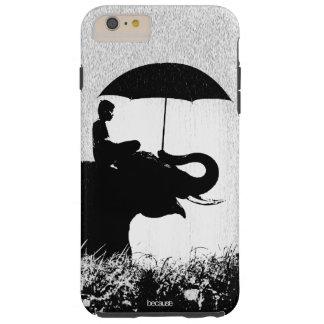 Coque Tough iPhone 6 Plus iPhone 6/6s d'art de pluie d'éléphant plus le cas