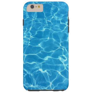 Coque Tough iPhone 6 Plus L'eau bleue de scintillement de piscine