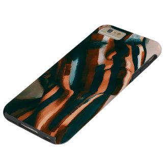 Coque Tough iPhone 6 Plus Madame peinte des tigres et des vagues