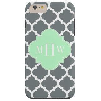 Coque Tough iPhone 6 Plus Monogramme #5 nommé en bon état marocain de blanc