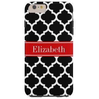 Coque Tough iPhone 6 Plus Monogramme nommé rouge blanc noir du Marocain #5
