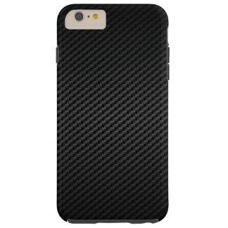 Coque Tough iPhone 6 Plus Moteur classique emballant la fibre de carbone