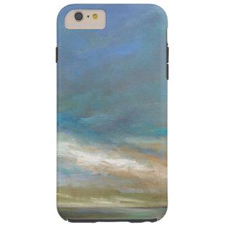 Coque Tough iPhone 6 Plus Nuages côtiers avec l'océan