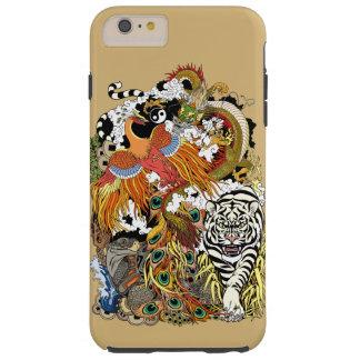 Coque Tough iPhone 6 Plus quatre animaux célestes