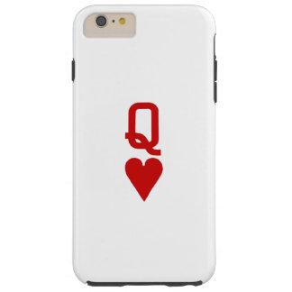 Coque Tough iPhone 6 Plus Reine de l'iPhone 6/6S de coeurs plus le cas dur