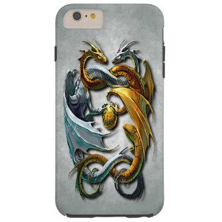 Coque Tough iPhone 6 Plus Tatouage celtique mythique d'imaginaire de dragons