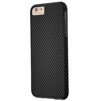 Coque Tough iPhone 6 Plus Texture noire de synthétique de Para-aramid