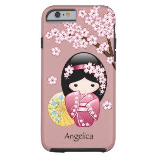 Coque Tough iPhone 6 Poupée de Kokeshi de ressort - geisha japonais