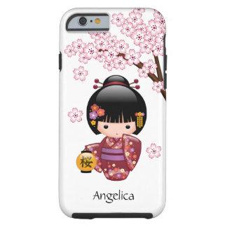 Coque Tough iPhone 6 Poupée de Sakura Kokeshi - fille de geisha