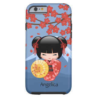 Coque Tough iPhone 6 Poupée rouge de Sakura Kokeshi - fille de geisha