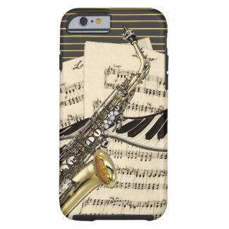 Coque Tough iPhone 6 Saxophone et musique de piano