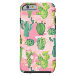 Coque Tough iPhone 6 Succulents rouges verts de feuille de fleur de