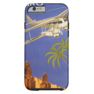 Coque Tough iPhone 6 Voyage vintage vers le Caire, Eygpt, avion de