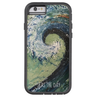 Coque Tough Xtreme iPhone 6 Art abstrait de vague côtière de plage