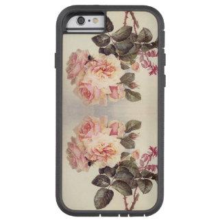 Coque Tough Xtreme iPhone 6 Caisse rose de l'iPhone 6 de fleurs de chou