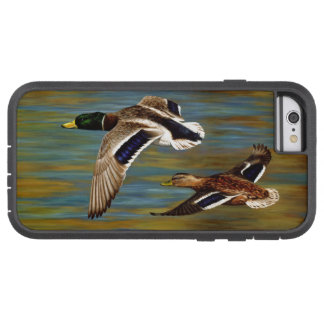 Coque Tough Xtreme iPhone 6 Canards de Mallard volant au-dessus de l'étang