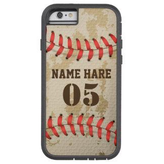 Coque Tough Xtreme iPhone 6 Cas dur de téléphone de base-ball vintage frais