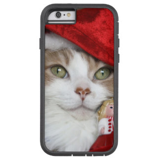 Coque Tough Xtreme iPhone 6 Chat de Père Noël - chat de Noël - chatons mignons