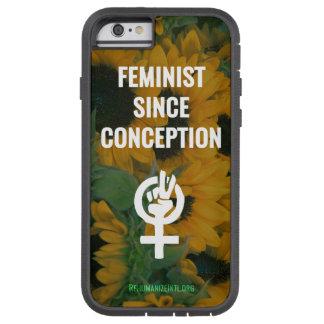 Coque Tough Xtreme iPhone 6 Féministe puisque cas de téléphone de conception