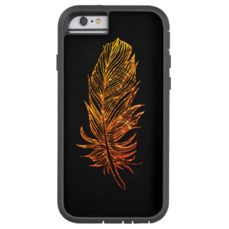 Coque Tough Xtreme iPhone 6 iPhone d'or 6/6s, Xtreme dur d'art de plume