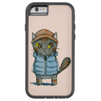 Coque Tough Xtreme iPhone 6 Le chat avec la calotte et investissent vers le