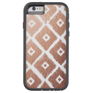 Coque Tough Xtreme iPhone 6 Motif tribal de feuille d'or rose de Faux