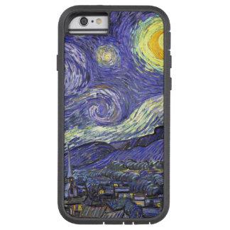 Coque Tough Xtreme iPhone 6 Nuit étoilée de Van Gogh, paysage vintage de
