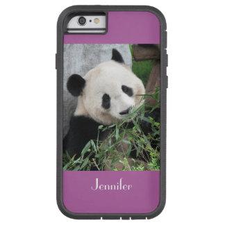 Coque Tough Xtreme iPhone 6 panda géant Bkgnd pourpre pâle de cas de l'iPhone