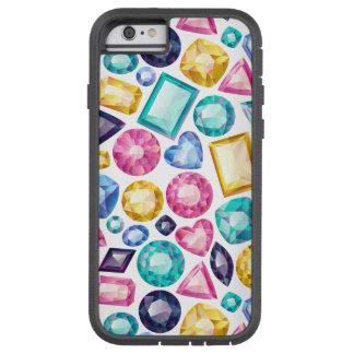 Coque Tough Xtreme iPhone 6 Pierres gemmes brillantes Girly chics de diamant